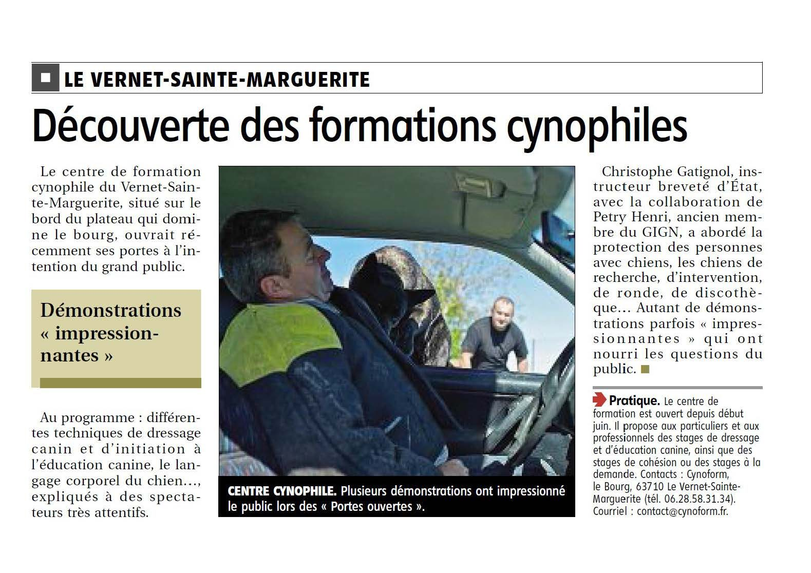 Article La Montagne du 07/10/2013